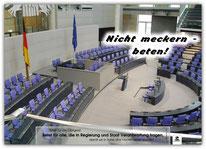 Plakat Poster beten Bundestag