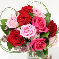Bouquet de roses, plein d'amour: CHF 95.