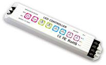 RGB-1600 - Descripción: Receptor-Controlador RGB, 32 Modos. Se pueden sincronizar con un solo Emisor CRGB-1603 (El Emisor se cotiza por separado)- Voltaje de Operación: 12V-24V CD