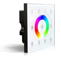 DX-8RGBW - Descripción: Touch Panel RGB, 4 Zonas. 100-240V CA. DMX 512. Requiere controlador R4-5A o R4-CC. Señal RF hasta 30m - Voltaje de Operación: 100-240V AC
