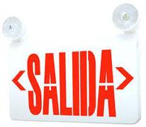 LETRERO SALIDA ROJO/VERDE DL-EECSL-8600, 2W, RESPALDO DE 90 MIN. DILAE