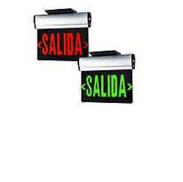LETRERO SALIDA VERDE/ROJO TIPO ESPEJO, 3W, 120-277Vca DILAE