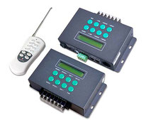 RGB-0300 - Descripción: Controlador RGB/DMX. Con pantalla LCD, Incluye: 39 Modos, Reloj-programador. Compatible con DMX
