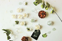 Bild: DIY Deko Advent und Weihnachten, Adventsparty, Weihnachtsparty mit Konfetti und Acrylkugeln zum befüllen