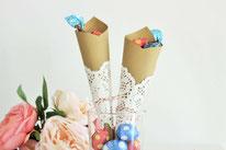 Bild: DIY Deko Ideen für Ostern selber basteln // Oster Tüte aus Papier als Alternative zum Osterkorb umsetzen Anleitung