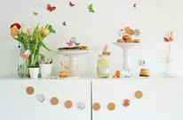 Bild: DIY Party Deko zum selber machen vom DIY Deko Blog Partystories - DIY Dekoration aus Geschenkpapier selber basteln