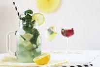 Bild: Rezepte für Drinks-Cocktails-Mocktails-Bowlen-alkoholfreie-Getränke für die Party selber mixen von Partystories; Limoncelle Drink Ideen