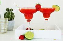 Bild: Rezepte für Drinks-Cocktails-Mocktails-Bowlen-alkoholfreie-Getränke für die Party selber mixen von Partystories; fruchtige frozen Margaritas