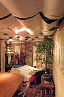 各種撮影 レンタルハウススタジオ 横浜ハウス オブ ハリウッド テラスルーム ベッド配置