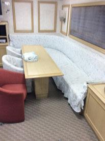 横浜海上保安庁 巡視艇 応接室 ダイニング 椅子カバー作製 横浜コットンハリウッド ファブリックマジック