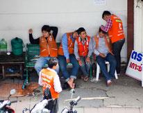 Motarad-Taxifahrer in Bangkok