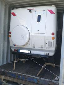 Transport de camping-car par conteneur France-Réunion avec Long-Cours