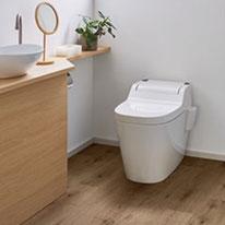 リアルな木目調が自慢の床材はうれしい消臭機能付き