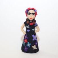 Frida Kahlo nadelgefilzt, Frida Kahlo, gefilzt Frida Kahlo. Sonderanfertigung Mensch, Abbild Mensch Filz, Portrait Frida Kahlo, Skulptur aus Filz, Filzskulptur Mensch,