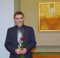 На персональной выставке в ДКХМ в 2001 году