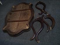 Это старинный столик работы Мебельного мастера Петра Харитонова.  Буду реставрировать.