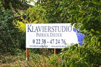Klavierstudio Patrick Dieter, Schild, Ortseingang, Pulheim, Musikschule, Musik