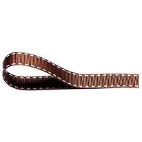 Ripsband braun weiß