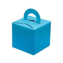 kleine Schachtel Quadrat mit Henkel türkis
