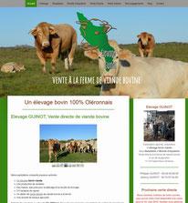 le site internet de l'élevage Guinot sur l'île d'Oléron réalisé avec e-cime.fr