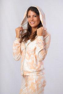 Yoga Sweat Shirt Hoodie Baumwolle Print
