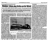 Artikel aus RS.- Tageszeitung für die Oberlausitz vom 13.Januar 1941