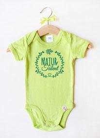 "Babybody grün ""Naturtalent"" - nähfein"