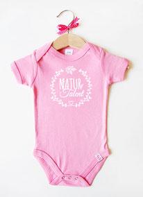"""Babybody rosa """"Naturtalent""""- nähfein"""