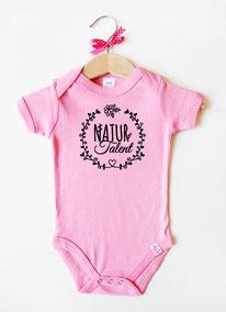 """Babybody rosa """"Naturtalent"""" - nähfein"""