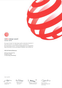Red dot design award winner 2010(HUG)