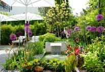 Prächtiger Vorstadt-Garten
