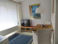 Kleines ruhig gelegenes Apartment f. 2 Pers. im Badzentrum mit großem Balkon