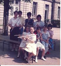 Classe de flûte juin 1985