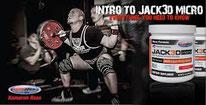 Un booster composé d'éléments pour le NO et d'ingrédients stimulants : citrulline, arginine nitrate, extraits de raisins, caféine, acide caféique, … Jack 3D advanced
