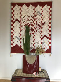お正月のお花/ワカマツ、ハクバイ、イナホ