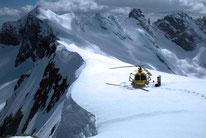 Gletscherlandung ab Samedan St. Moritz