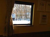 窓から眺める雪景色は格別です