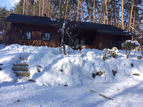 数日後。屋根の雪もすっかり溶けました