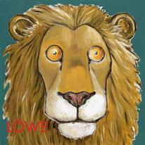 BIld: Kinderbuch Löwe  Öl auf Leinwand  © Caroline Ronnefeldt