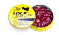 Rescue Pastillen Cassis Schwarze Johannisbeere 50 g Original Bach Blütenmischung Rescue Notfallmittel