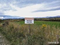 Neuseeland - Motorrad - Reise - Lake Hauroko - Geölte Straße
