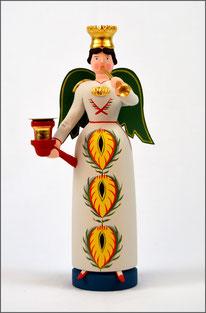 Tradition, Engel, Posaunenengel Christa, traditionell, historischem Vorbild, Brotteig, Erzgebirge Volkskunst