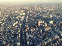 スカイツリーから見た東京の街