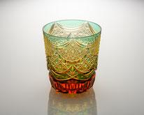 オールドグラス カーテンコール 緑/琥珀
