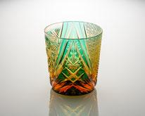 オールドグラス 雅 緑/琥珀