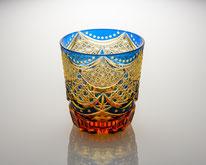 オールドグラス カーテンコール ルリ/琥珀