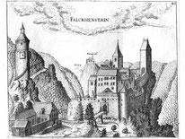 Alter Stich von Burgruine Falkenstein
