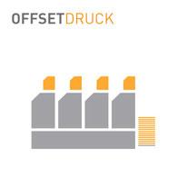 Professioneller Offsetdruck mit 5-Farben Heidelberger XL