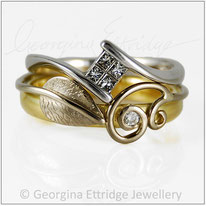 Wedding Ring Created to fit with an unusual shaped engagement ring