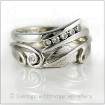Bespoke ring created to fit with engagement ring
